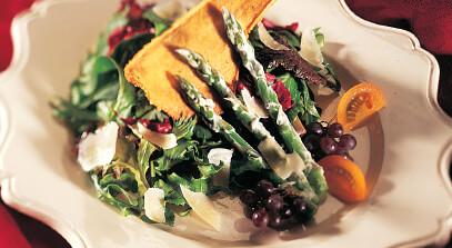 Goodfellows Asparagus Salad with Parmesan Crackers