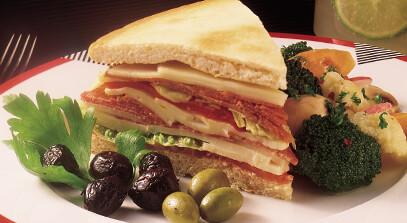 Butterkäse Focaccia Antipasto Sandwiches