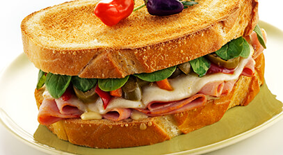 Super Spicy Italian Sandwich with Provolone