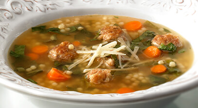 Italian Wedding Soup with Romano