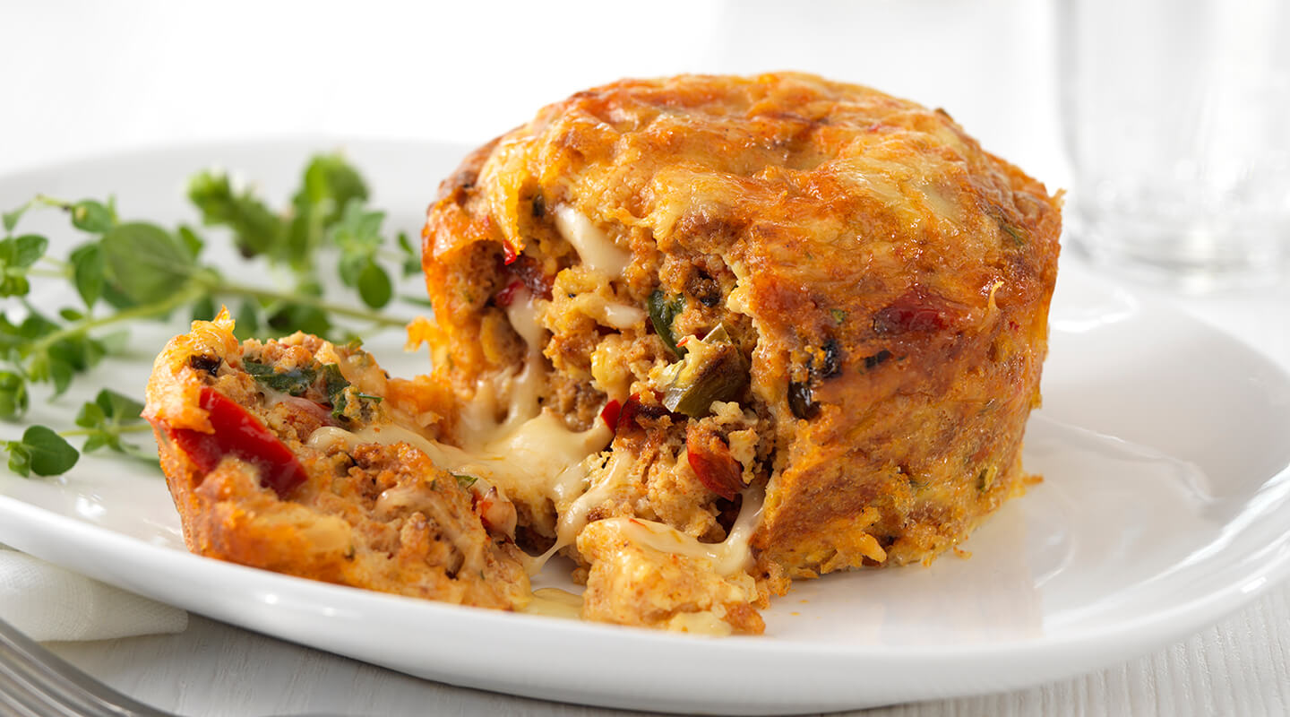 Wisconsin Cheese Chorizo, Egg and Pepper Jack Omelet Muffins Recipe