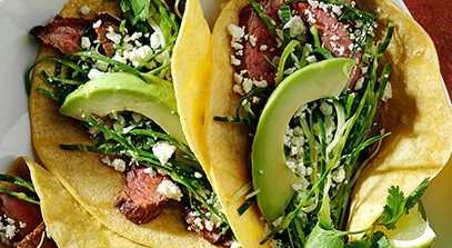 Carne Asada Tacos with Queso Fresco