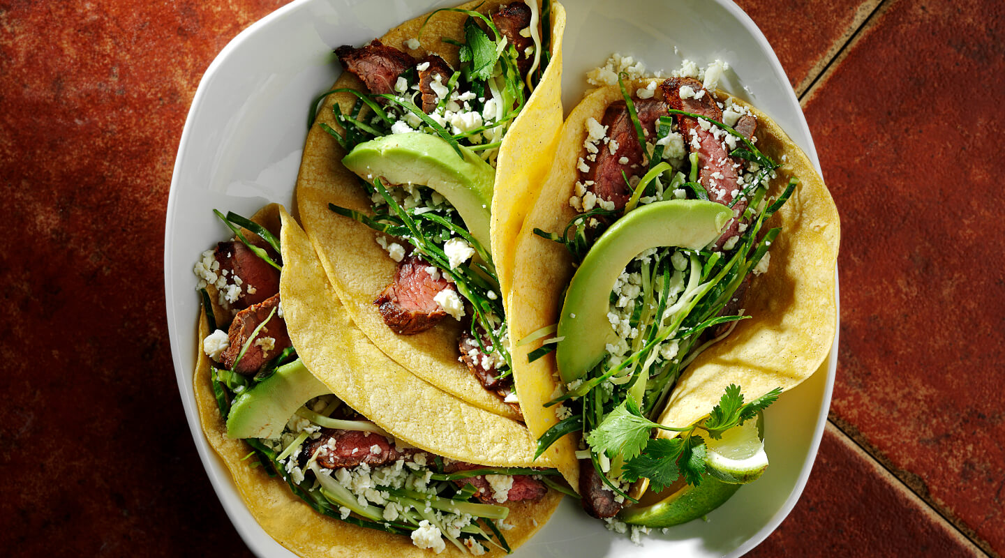 Beef Steak Tacos with Queso Fresco