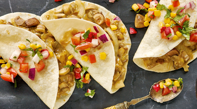 Wisconsin Cheese Mushroom and Cheese Tacos recipe