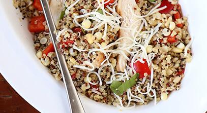 Chicken Quinoa Bowls with Provolone