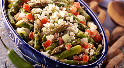 Mexican-Style Asparagus Salad with Queso Blanco