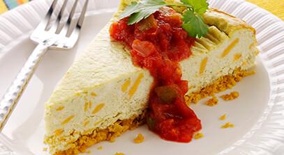 Savory Aged Cheddar-Chile Poblano Cheesecake