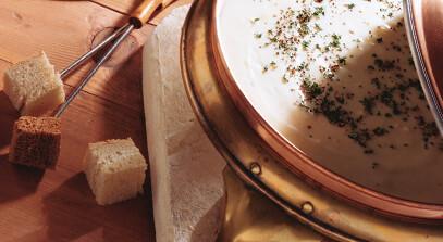 fontina fondue with chardonnay