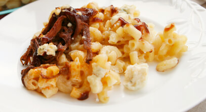Blue Cheese and Brisket Mac