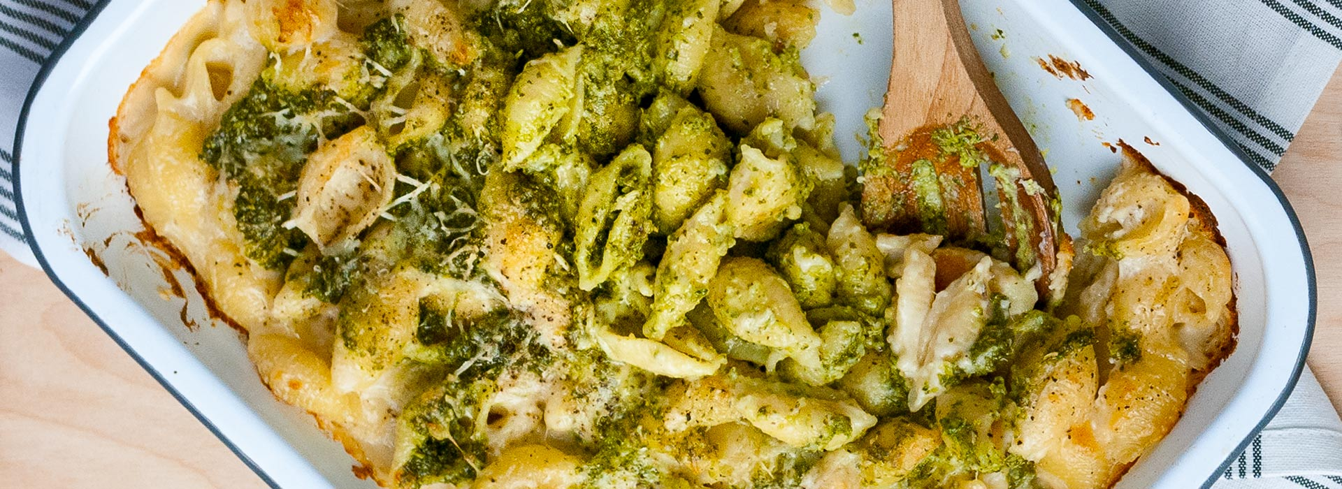 Kale Pesto Mac and Cheese
