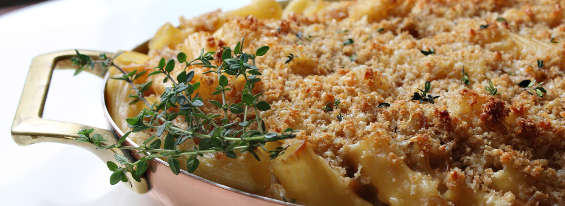 Caramelized Onion Pasta Gratin