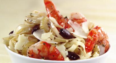 Linguine with Tiger Shrimp and Parmesan