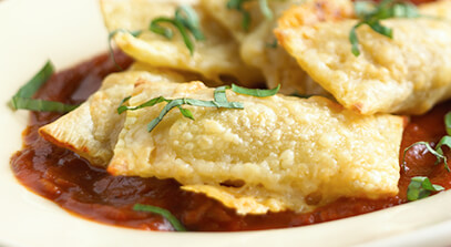 Pork Shoulder Ravioli with Gran Canaria Cheese
