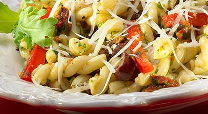 Arugula, Pistachio and Aged Parmesan Pesto Toss