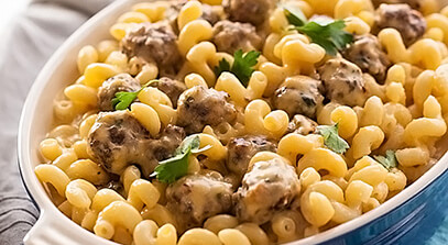 Mini Meatball Mac and Cheese