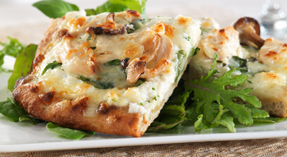 Five-Cheese Chicken Florentine Flatbread