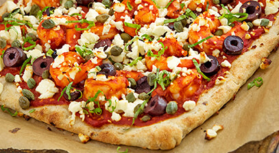 Spicy Greek Flatbread with Feta