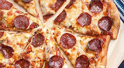 pepperoni vegetable pizza