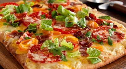 BLT and Cheddar Flatbread Pizza