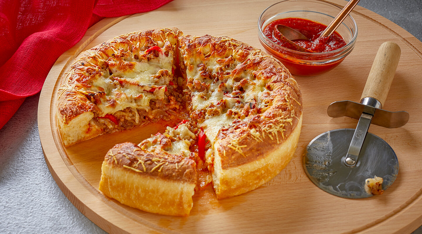 Hot Sausage Deep-Dish Pizza