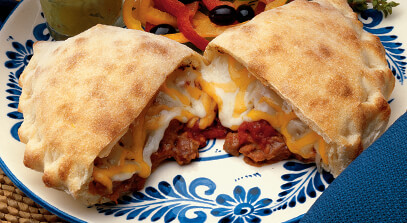 baja pizza pouches (calzones) with cheese