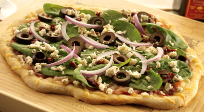 Greek Pizza with Award-Winning Cheeses