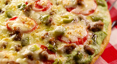 Grilled Pizza with Three-Cheese Blend
