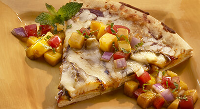 Jerk Chicken Pizza with Mango Salsa