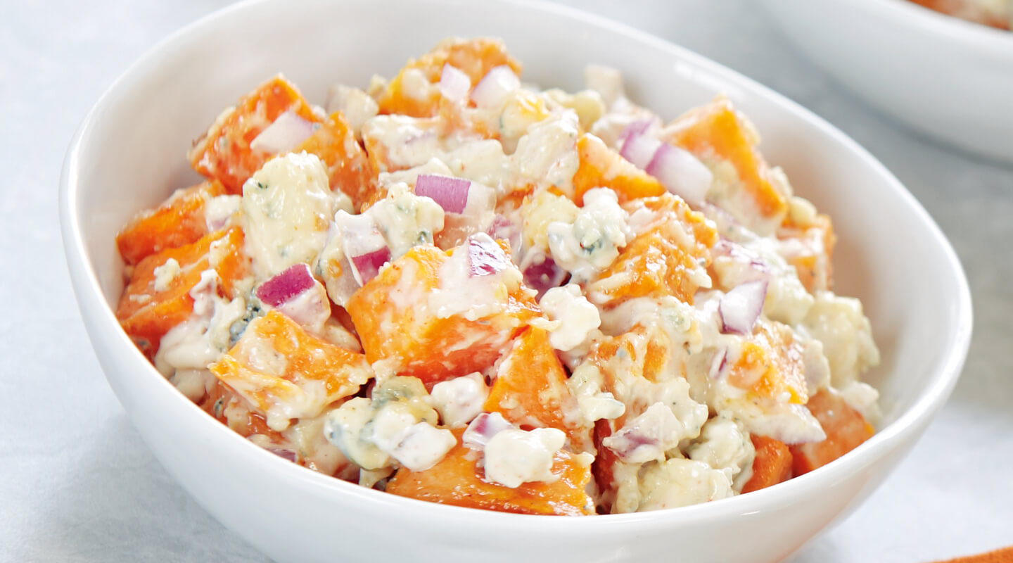 Wisconsin Cheese Blue Cheese Sweet Potato Salad Recipe