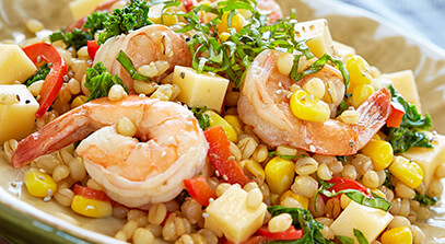 Gouda Shrimp Salad with Acai Dressing