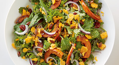 roasted pumpkin and cheddar salad