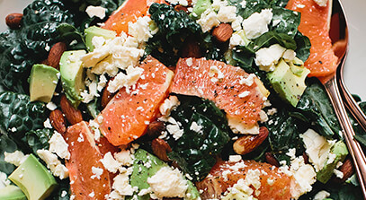 Kale, Blood Orange and Feta Salad