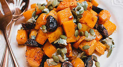 Butternut Squash, Fig and Gorgonzola Salad