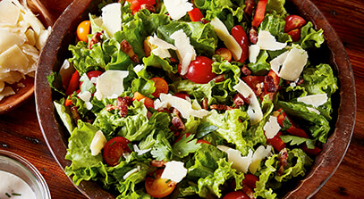 All-American Salad with Parmesan Peppercorn Dressing
