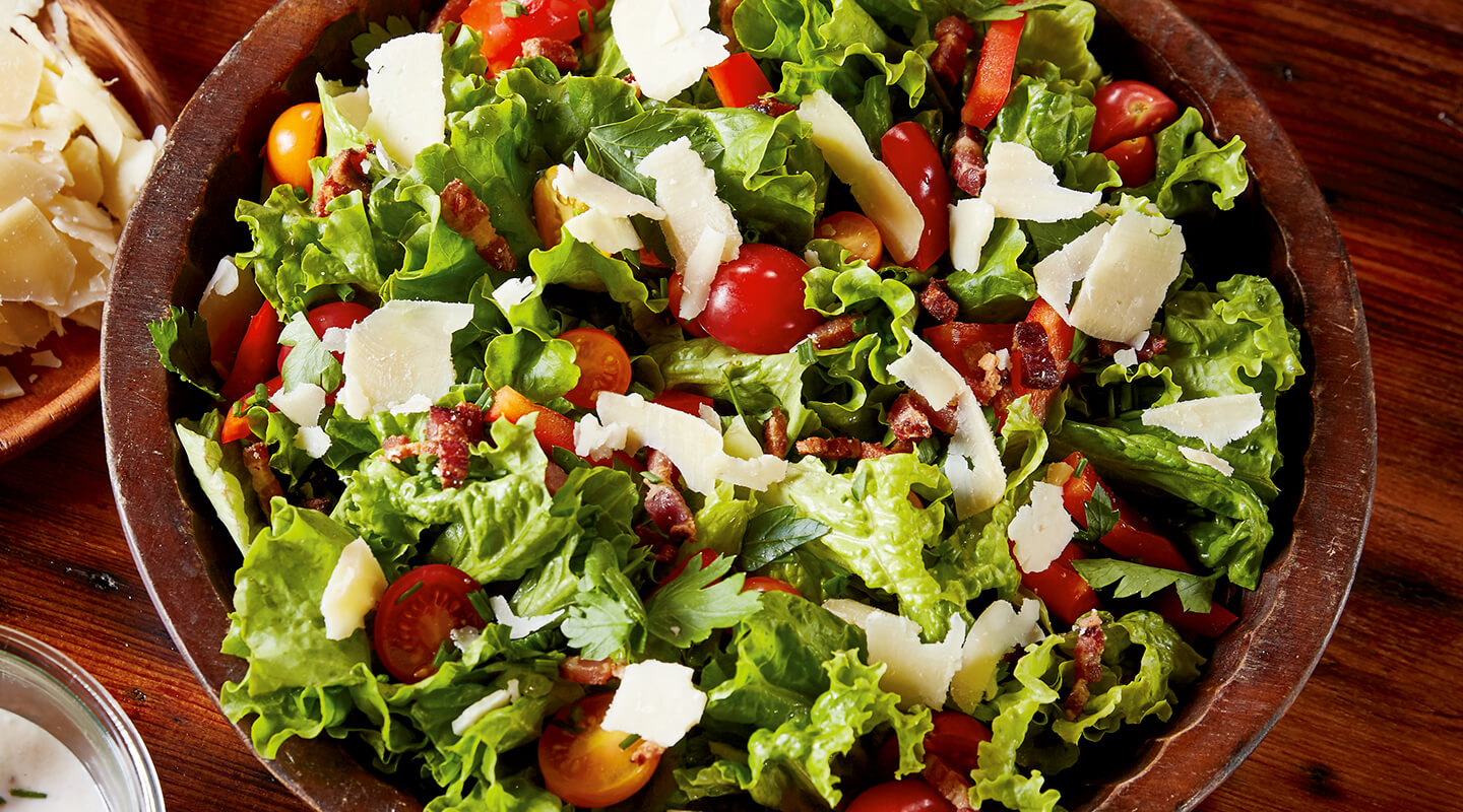Wisconsin Cheese All-American Salad with Parmesan Peppercorn Dressing recipe