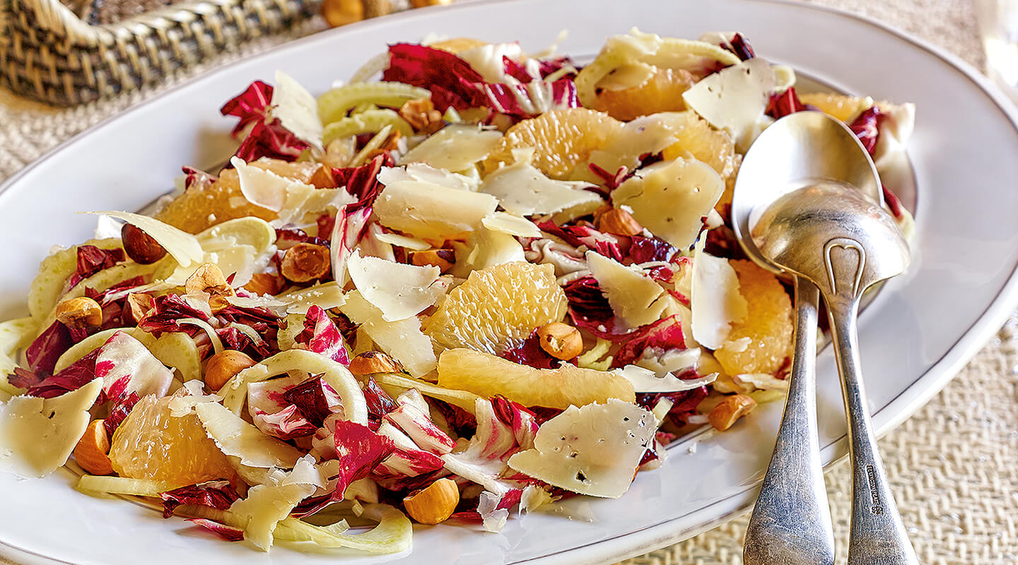Wisconsin Cheese Radicchio-Citrus Salad with Parmesan Recipe