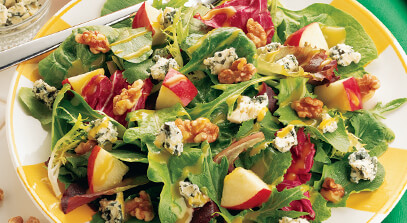 Apple Walnut Salad with Blue Cheese