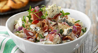Bacon and Gorgonzola Potato Salad