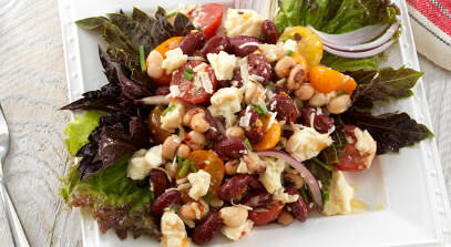 Triple Bean, Balsamic and Italian Cheese Salad