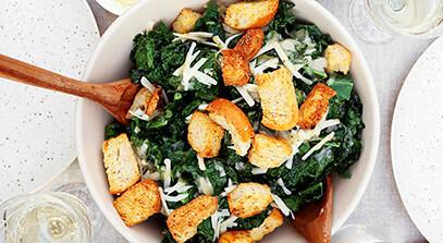 Crispy Kale Caesar Salad