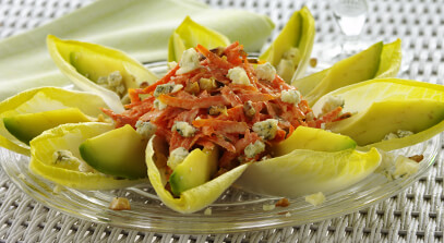 Catalan Endive-Avocado Salad with Blue Cheese