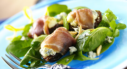 Prosciutto-Wrapped Figs with Blue Cheese