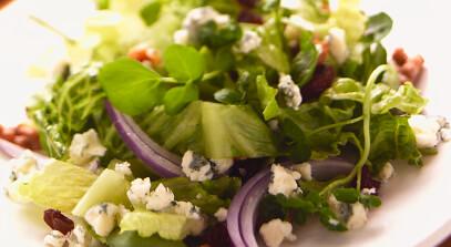 Watercress-Gorgonzola Salad with Spiced Walnuts