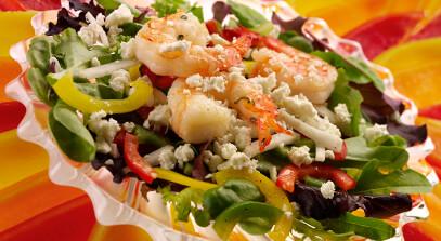 Feta and Shrimp Cool Summer Salad