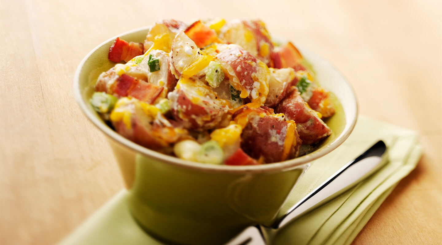 Wisconsin Cheese Aged Cheddar Baked Potato Salad Recipe