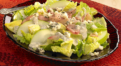 Endive Salad with Blue Cheese and Sweet-and-Sour Pickled Shallots
