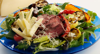 Grilled Vegetable and Beef Salad with Havarti