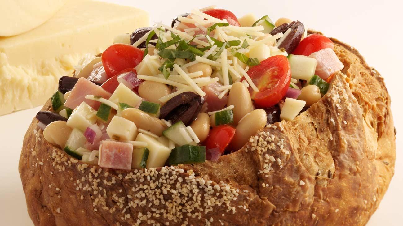 Mediterranean Ham and Cheese Salad