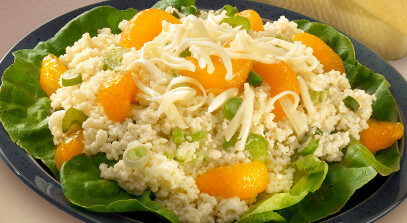Couscous and Mandarin Orange Salad with Havarti Cheese
