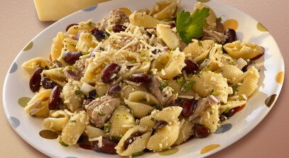 Tuna and Beans Salad Topped with Asiago